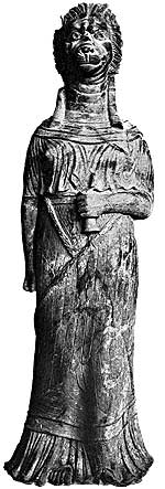 Богиня Тиннит в образе львицы. Статуя I в. н. э.