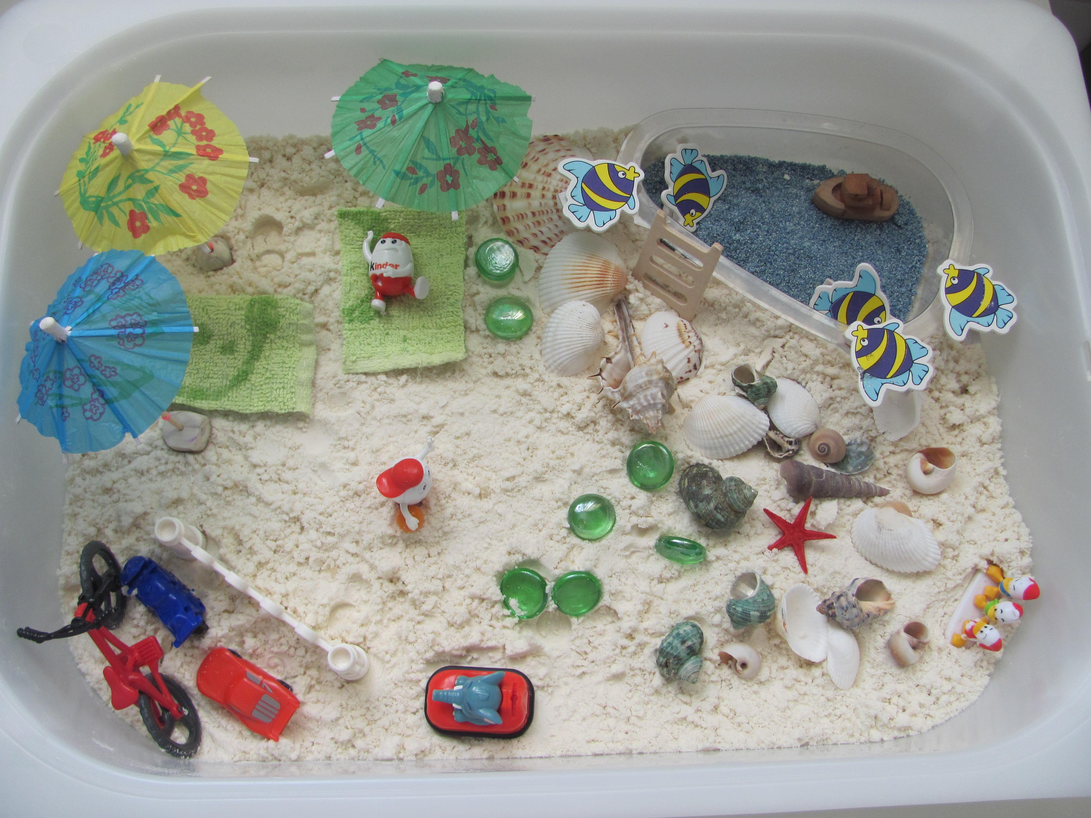 Как сделать пляж в коробке