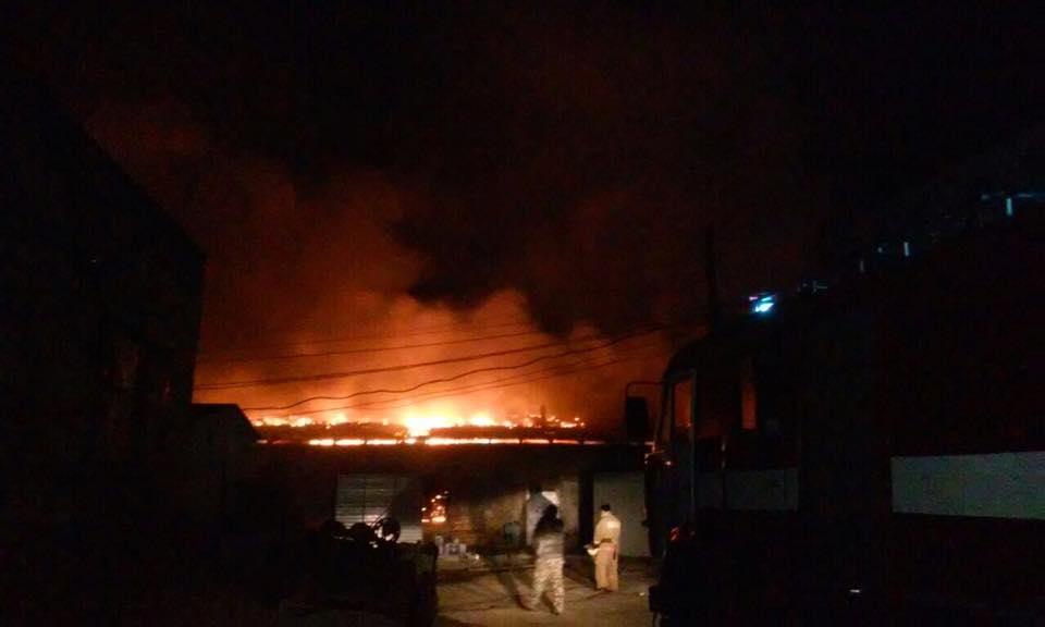 ВКиевской области данной ночью горел мебельный склад