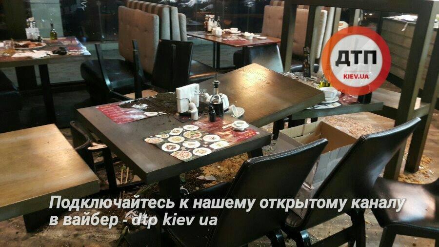 Посетители разгромили ресторан вГолосеевском районе украинской столицы