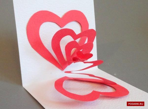 Как сделать открытку своими руками с сердечком