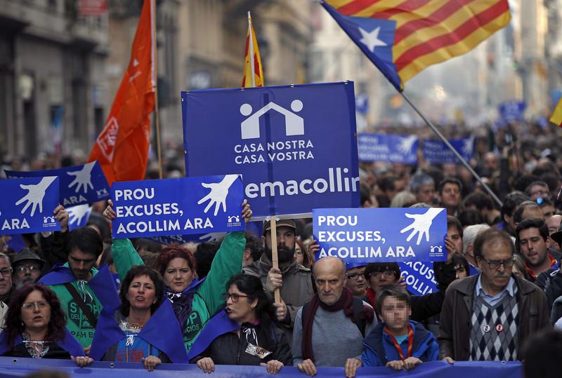 Наулицы вышли 160 тыс. демонстрантов— Протест вБарселоне