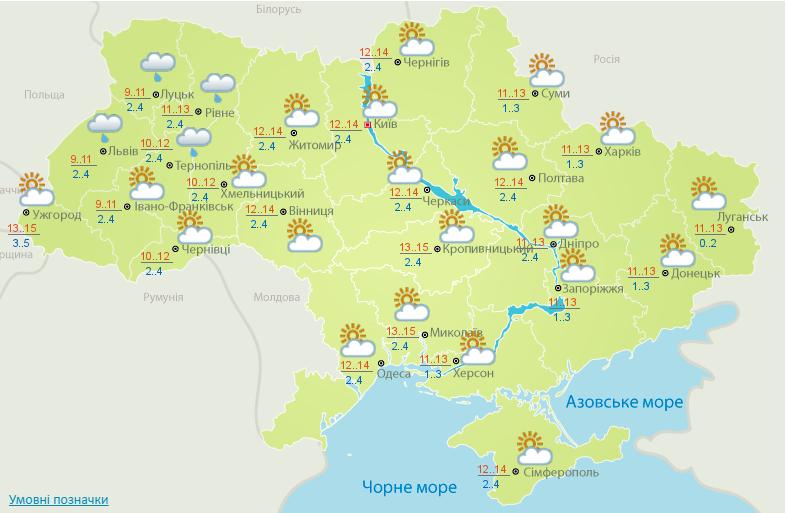 ВУкраинском государстве тепло, кое-где дождь— Синоптики