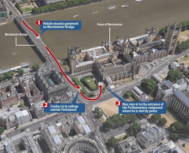 Появилось видео, как милиция открыла огонь потеррористу вцентре Лондона