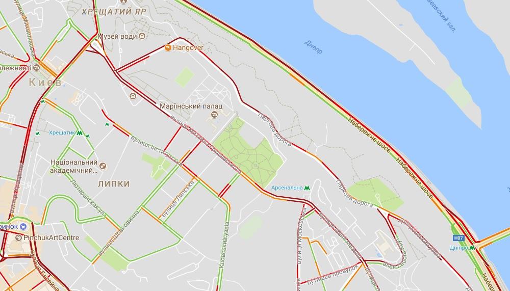 Митинг идождь: Киев остановился вбезумных пробках (КАРТА)