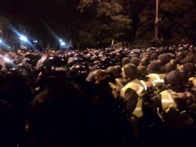 Под Радой произошли стычки между активистами иправоохранителями