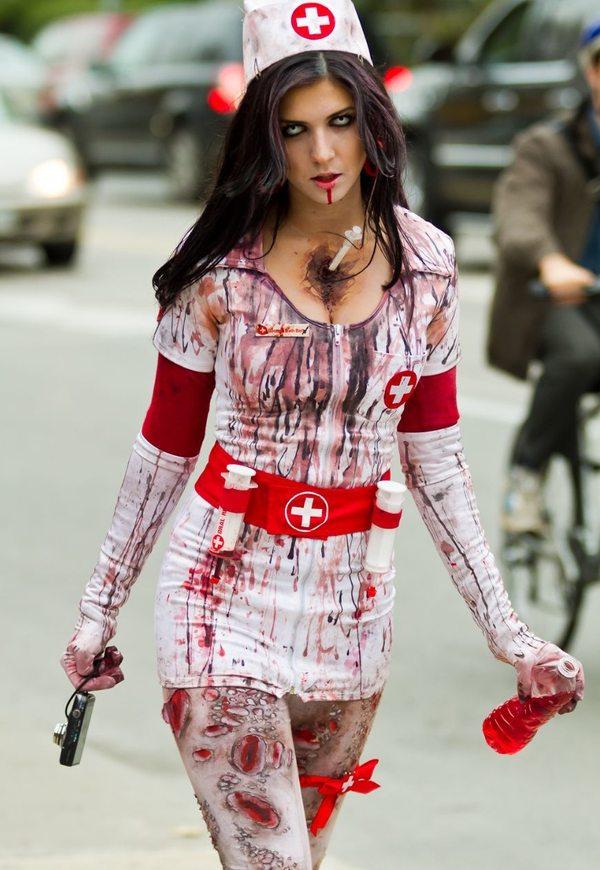 Костюм для хэллоуина медсестры своими руками
