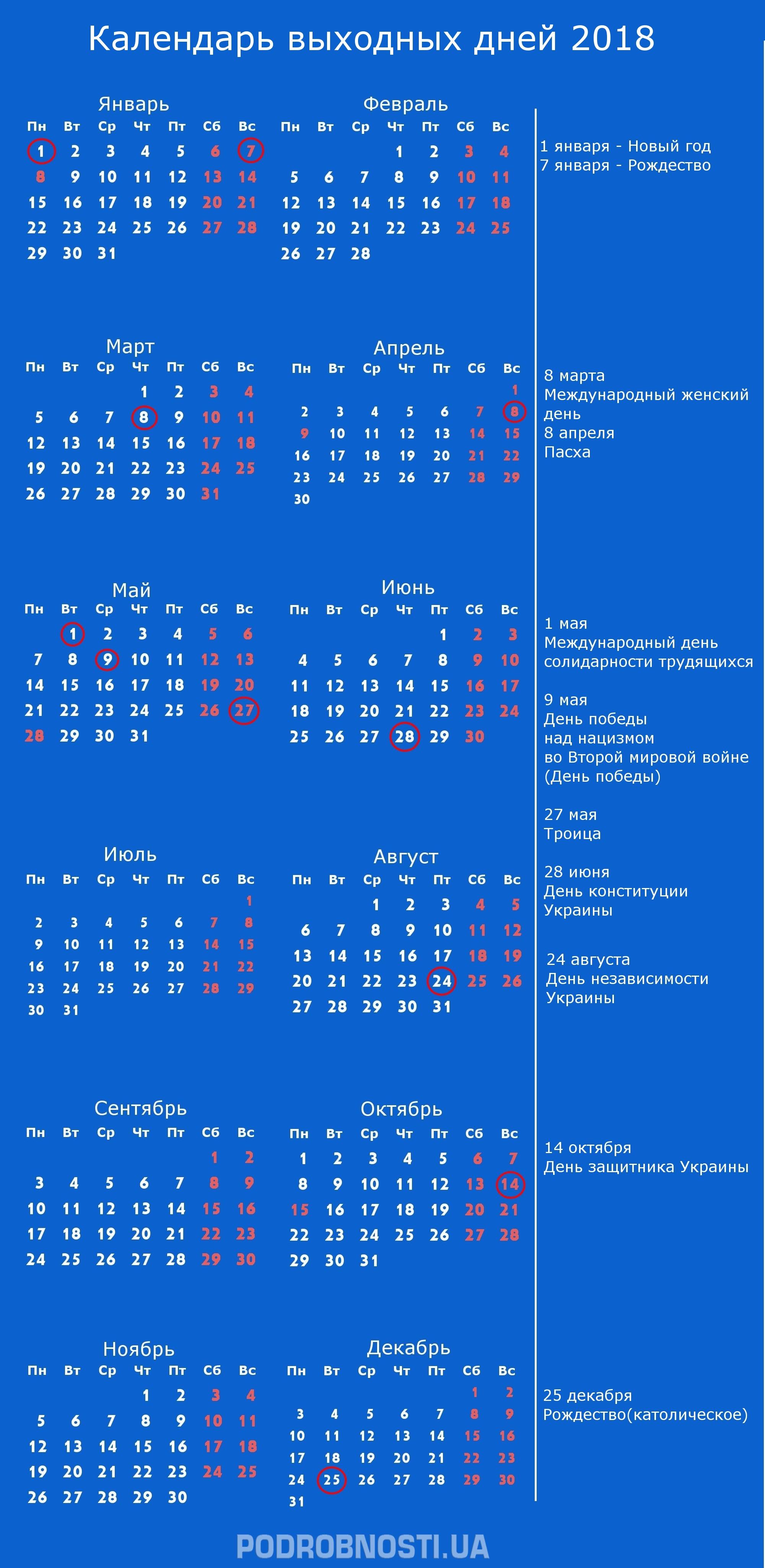 Праздники 30 октября 2018 года