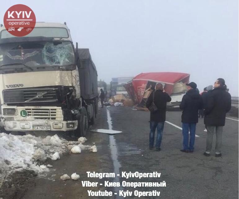 Натрассе Киев-Одесса тягач раздавил водителя микроавтобуса, который менял колесо