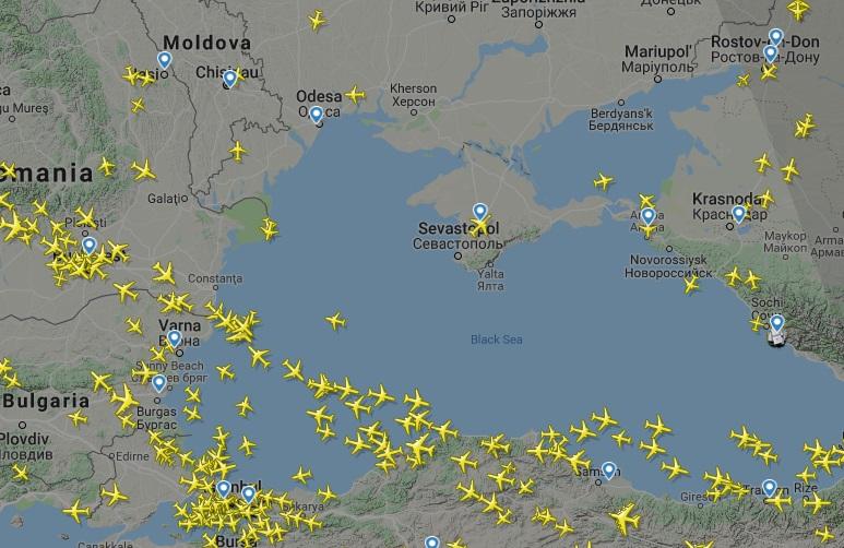Украина перекрыла небо возле Крыма из-за стрельб