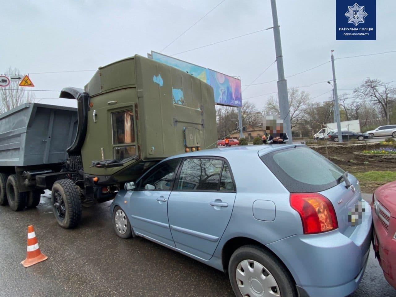 Авария произошла на одной из улиц города