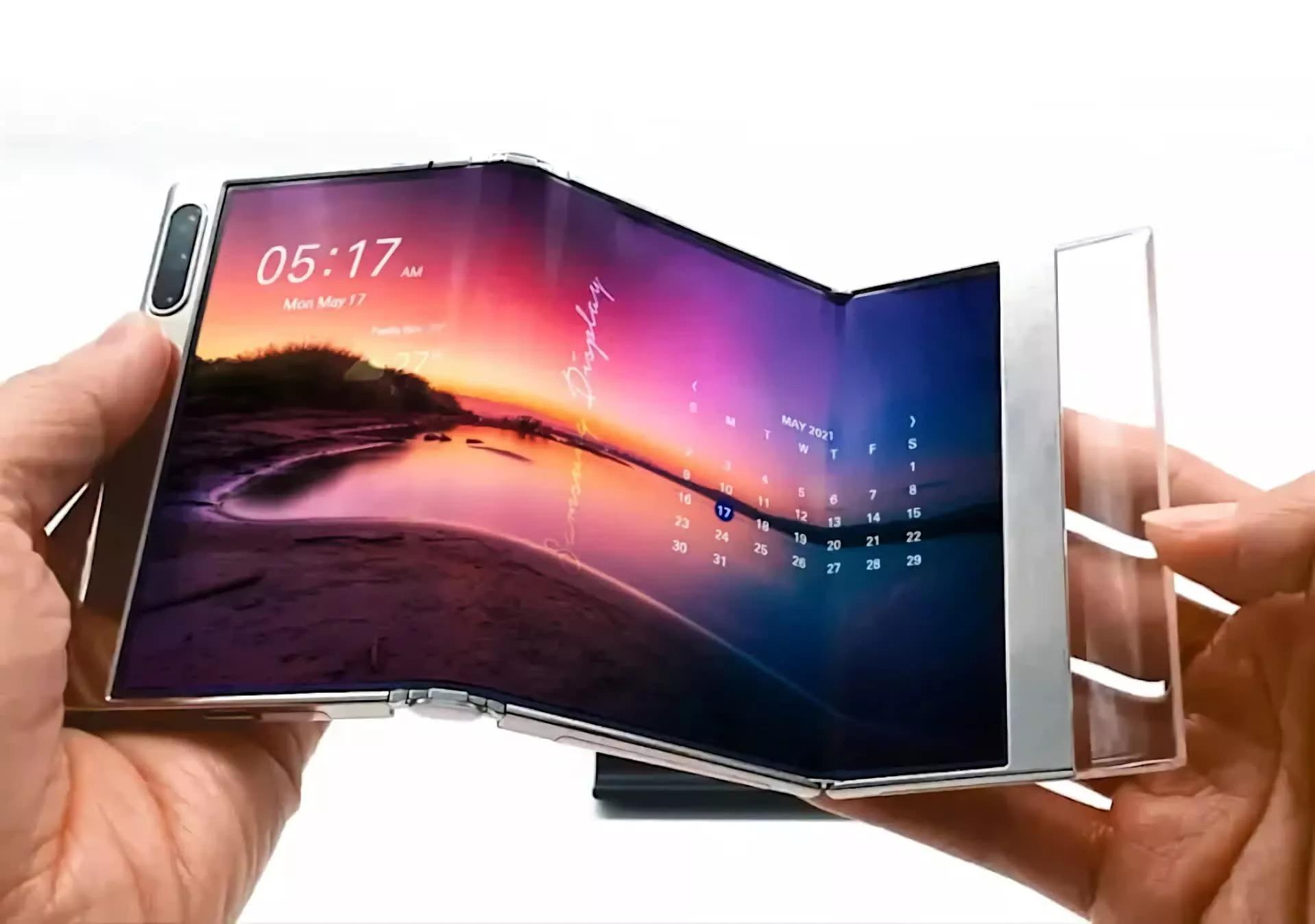 Samsung готовит смартфоны с гибкими дисплеями нового поколения