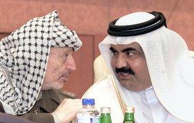 Ясир Арафат и шейх Бахрейна