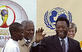 Пеле и Аннан - друзья