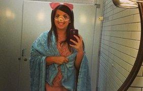 А вот и свинья в одеяле