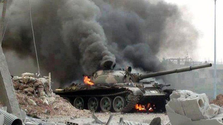 танки в сирии видео