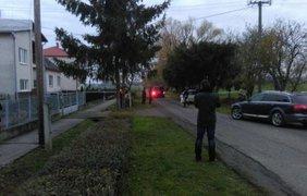 Место крушения украинского вертолета. Фото noviny.sk