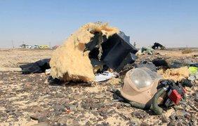 Место крушения российского самолета