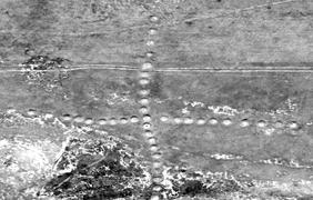 В степи Казахстана обнаружили гигантскую свастику
