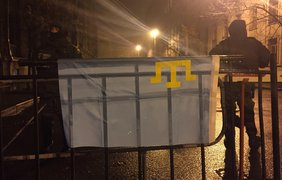 На Банковой собирается митинг. Фото: facebook.com/ayder.muzhdabaev