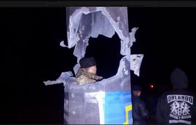 Штурм блокады Крыма на Чаплинке. Фото: twitter.com/Automaidan