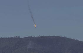 Турция сбила российский Су-24. Фото: twitter.com/HaberturkTV