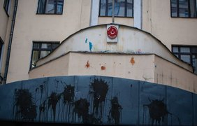 В Москве возле Турции создали помойку
