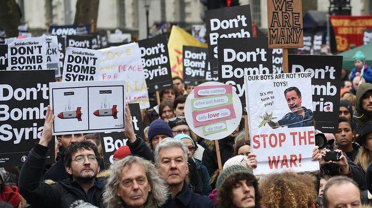 В Лондоне прошёл митинг против участия Великобритании в военной операции в Сирии