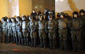 Активисты подрались с полицией
