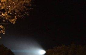 НЛО в небе над Калифорнией. Фото соцсети