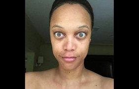 Американская супермодель и телеведущая Тайра Бэнкс запостила в Инстаграме селфи без макияжа, 17 июня