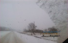 В Харькове дороги заметает снегом. Фото Лидии Калининой