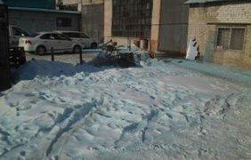 Голубой снег в России 1