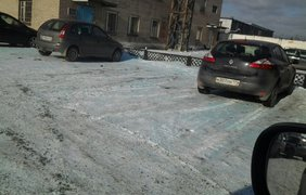 Голубой снег в России 3