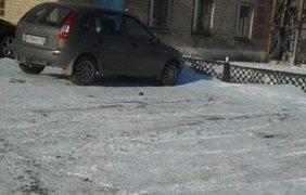 Голубой снег в России