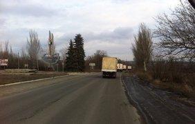 На въезде в Харцызск