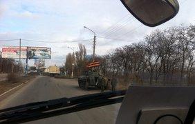 Въезд в Донецк