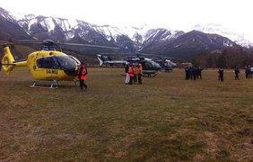 В район крушения А320 на юге Франции прибыли спасатели. фото - Twitter