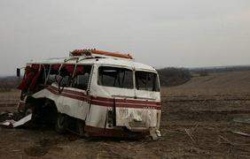 Автобус подорвался в Артемовске. Фото Виталий Гринев