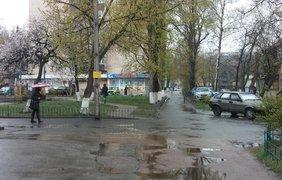 В Киеве идет снег с дождем