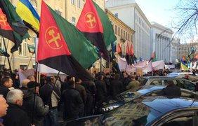 Шахетры заблокировали центр Киева Источник: @adrozd83