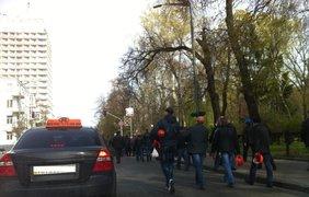 Шахтеры второй день митингуют в Киеве. Фото twitter.com/ostro_v/status