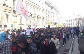 Центр города перекрыт протестюущими