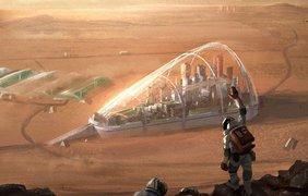 Колония на Марсе в представлении художника из Швеции