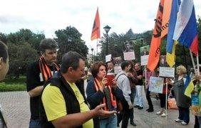Пикет против политики Кремля. Фото twitter/Alasta_ven