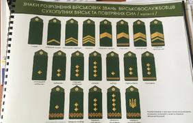 Вариант новых погон Армии Украины.