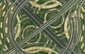 Транспортная развязка в Дубаи, ОАЭ