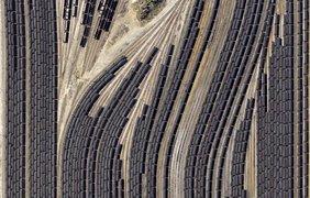 Железнодорожное депо в США штат Иллинойс