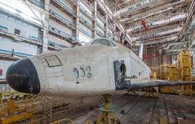Заброшенный ангар с российскими космическими кораблями