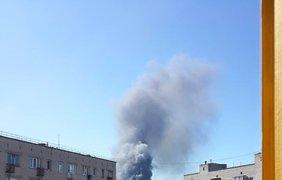 Жители Броваров сообщают о пожаре на заправке. Фото Facebook/Павел Лысенко